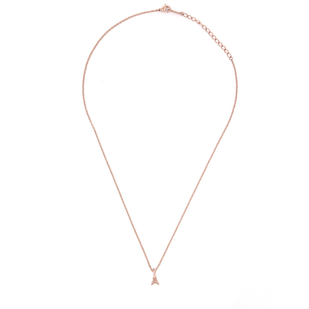 Eiffel Tower Rose Gold Necklace - Delicate Necklace -   - 2