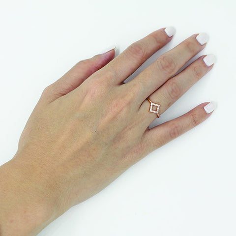 Diamand Diamante rose gold ring - Ring -   - 3