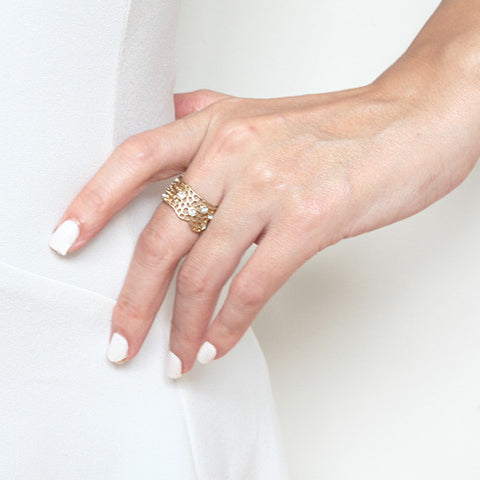 Honeycomb Ring - Ring -   - 4