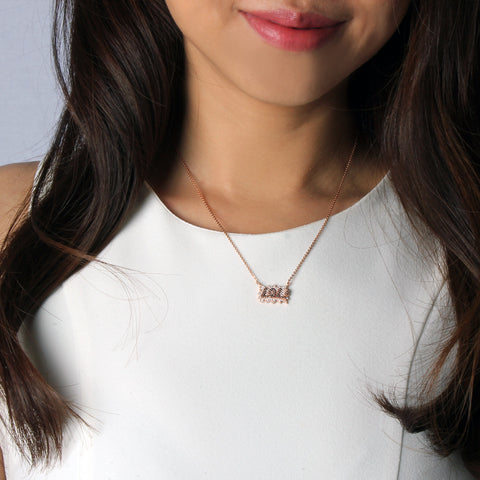 LOL Micro Paved Necklace - Delicate Necklace -   - 3