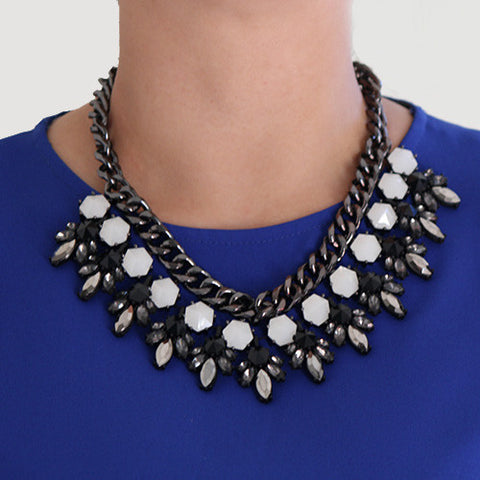 Midnight Sky Necklace - Statement Necklace -   - 4