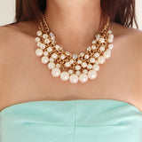 Multus Pearl Necklace - Statement Necklace -   - 3