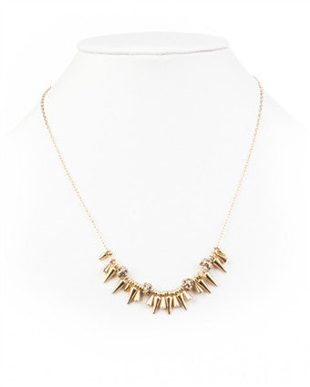 Rivet Mini Spikey Necklace - Delicate Necklace -   - 5