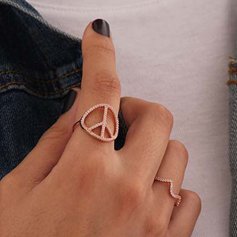 Peace Diamante Ring - Ring -   - 3