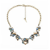 Iridescent Floral Necklace - Statement Necklace -   - 1