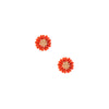 petite Daisy Stud - Stud Earrings -  Orange - 1