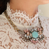Retro Dame Necklace - Statement Necklace -   - 5