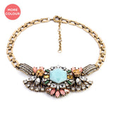 Retro Dame Necklace - Statement Necklace -   - 1