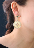 Royal Medallion Earrings - Statement Earrings -   - 3