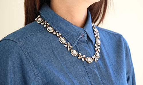 Simple Glam Necklace - Collar Necklace -   - 3