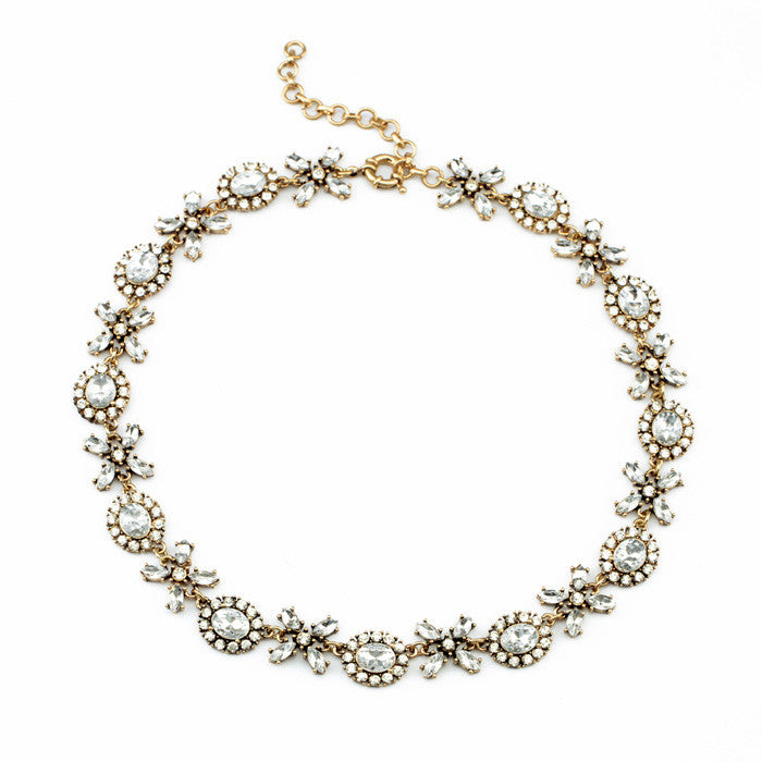 Simple Glam Necklace - Collar Necklace -   - 1