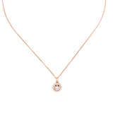 Smiley Me Micro Paved Necklace - Delicate Necklace -   - 1
