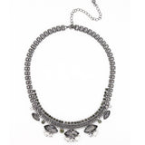 Twilight Dusk Statement Necklace - Statement Necklace -  Gun metal - 2