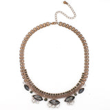 Twilight Dusk Statement Necklace - Statement Necklace -  Chrome - 1