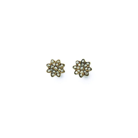 Petite Sunburst Crystal Earrings - Stud Earrings -