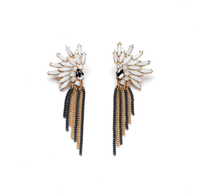 Tribal Wings Earrings - Statement Earrings -   - 1