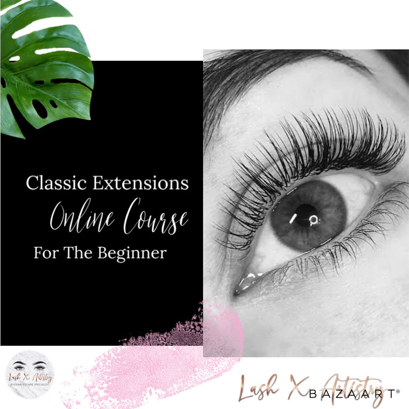 Classic Eyelash Extension Certification (Online Delivery) - Lash X Artistry