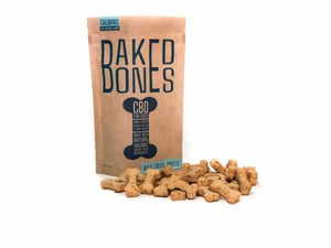 Baked Bones CBD Dog Treats – Peanut Butter & Apple Bones 180 MG