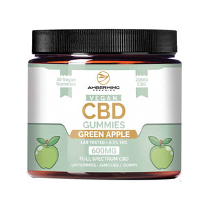Full Spectrum Vegan CBD Gummies – Green Apple