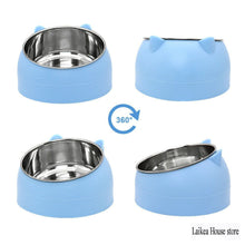 Load image into Gallery viewer, Cute Stainless Steel Angled Cat Food Bowl