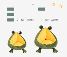 Load image into Gallery viewer, SHUANGMAO Frog Cat Bed