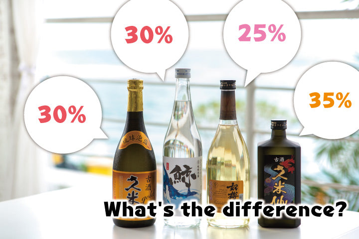 What is the alcohol content of Awamori?