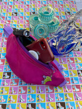 Load image into Gallery viewer, Pink Skate Fanny with Lime and Purple Roller Skate Charm
