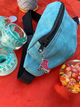 Load image into Gallery viewer, Teal Skate Fanny with Pink Roller Skate Charm
