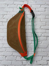 Load image into Gallery viewer, Brown Waxed Canvas Sling Bag
