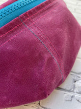 Load image into Gallery viewer, Fuchsia Pink Waxed Canvas Fanny Pack