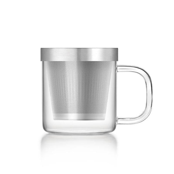 Samadoyo Glass Teacup S-049 Stainless Steel Filter
