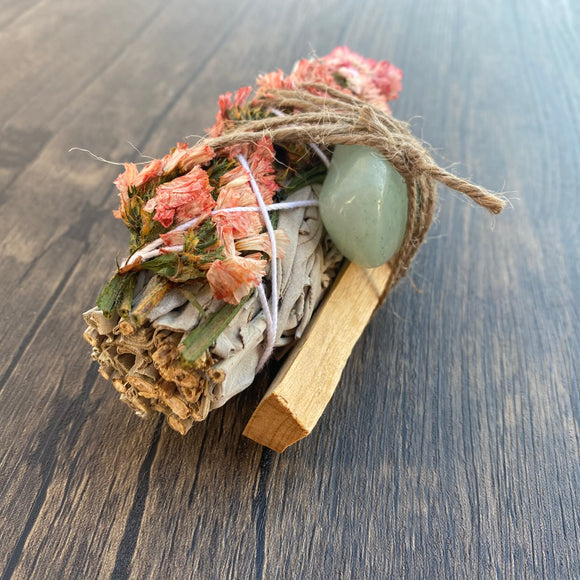 Pink Sinuata & White Sage | Cleansing Herb Bundle