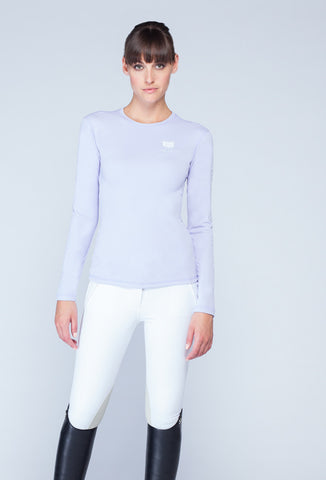 Asmar Long Sleeve Logo T, Lilac