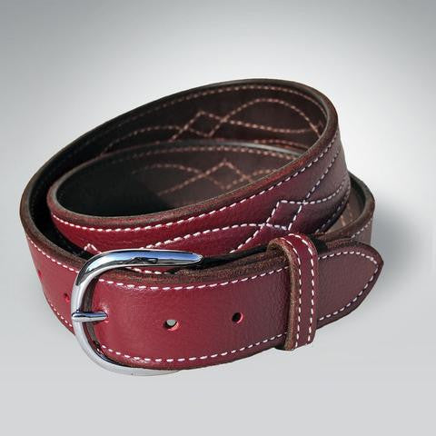Rebecca Ray Designs Leather Bridle Stitch Belt