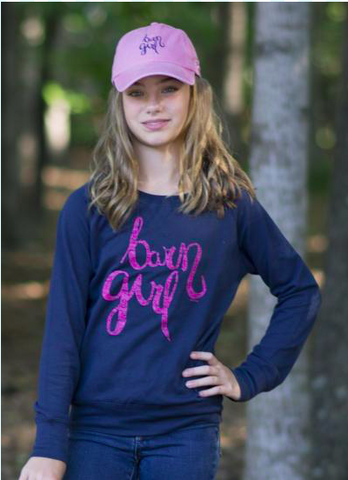 Barn Girl Kids Terry Sweatshirt