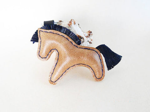 Mini Leather Pony Keychain