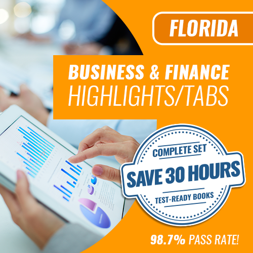 Florida Business and Finance Exam Complete Book Set  Highlighted & Tabbed