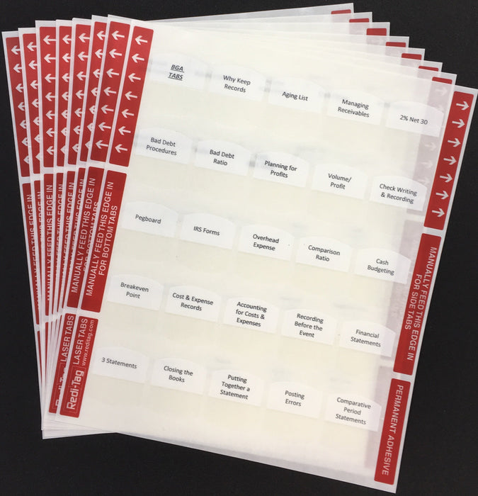Pre-printed Tabs for Florida State Business & Finance Book Package; Tabs Only
