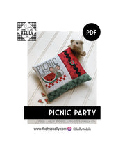Load image into Gallery viewer, Picnic Party PDF Cross Stitch Chart