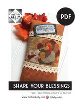 Load image into Gallery viewer, Share Your Blessings PDF Cross Stitch Chart