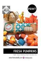 Load image into Gallery viewer, Fresh Pumpkins PRINT Cross Stitch Chart