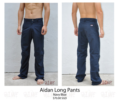 Aidan Long Pants (Navy Blue & Green)
