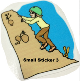 Water-proof Vinyl Climbing Stickers