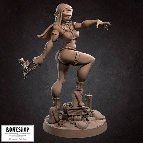 "Cultists of the Ancients ""Magdalena Pinup V1"" Bite the Bullet 28mm-35mm Boneshop"