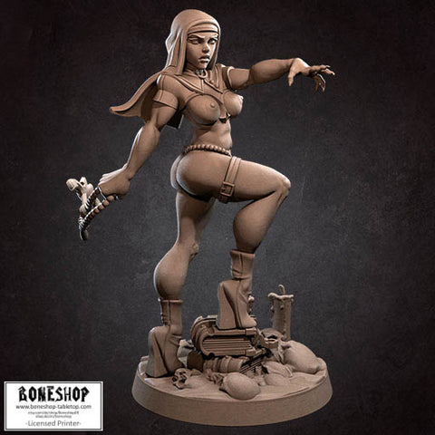 "Cultists of the Ancients ""Magdalena Pinup V2"" Bite the Bullet 28mm-35mm Boneshop"