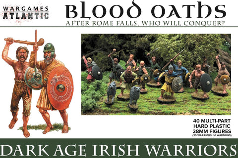 "Blood Oaths ""Darkage Irish Warriors"" BASE-Bundle Wargames Atlantic 28mm Boneshop"