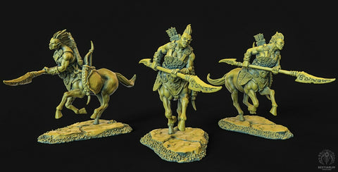"Wrath of the Wild ""Centaur female Spear 1"" Bestiarum Miniatures 28mm35mm Boneshop"
