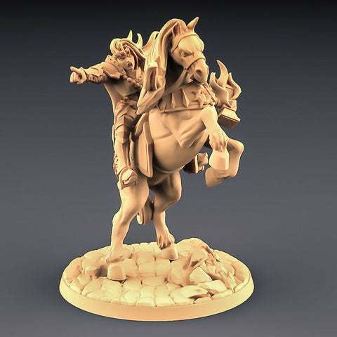 "Human Fighters Guild ""Morgana on Warhorse"" Artisan Guild 