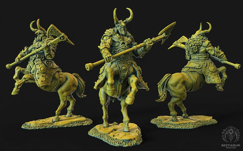 "Wrath of the Wild ""Centaur male 2h-Axe 1"" Bestiarum Miniatures 28mm35mm Boneshop"