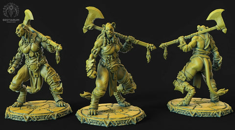 "Wrath of the Wild ""Leonin female"" Bestiarum Miniatures 